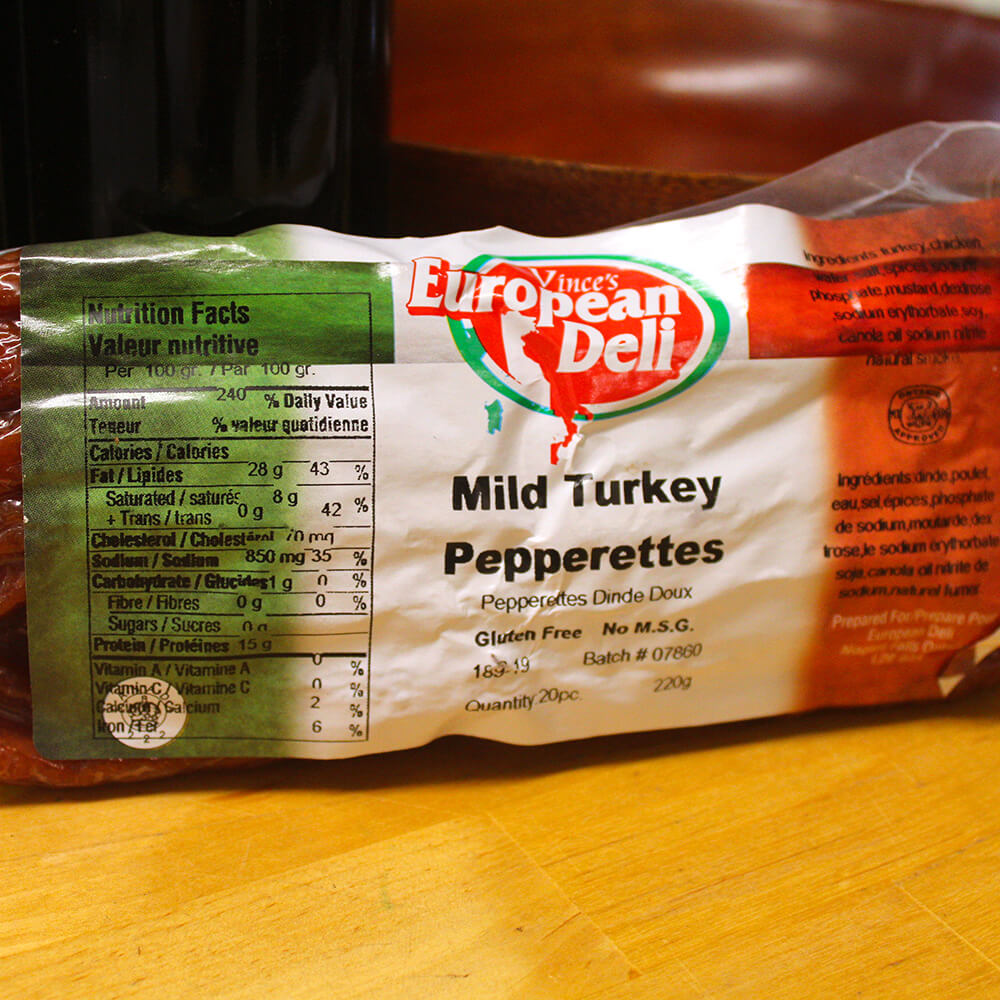 Turkey Pepperettes (20-Pack)